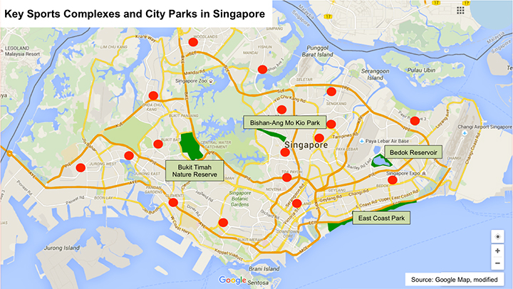 SingaporeMap_SportsComplexesCityParks_Article